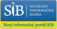 Sociálno-Informačná Banka - Nový informačný portál SIB
